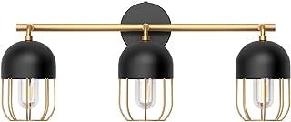 Klighten Applique Salle de Bain Lampe Miroir Industriel 60CM/23.6 Pouces Appliques Murales Interieur en Métal 3 Lumières A...