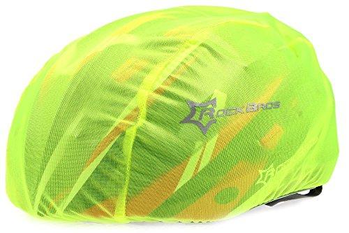 Hysenm - Impermeable para casco de bicicleta, ventilado, alta visibilidad, ligero...
