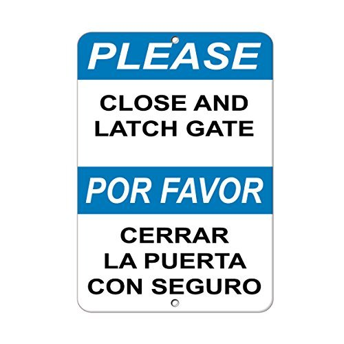Please Close und Verriegelung Tor Hazard beachten, Home Decor Metall Schild für Outdoor Hof Sicherheit Schild