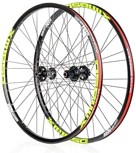 Bike Wheel Bicycle Wheel Set Pair of Bicycle Wheels (Front/Rear) Rim Double Wheel MTB, Bicycle Wheels 26/27.5 Inches Fast Release Disc Brake 32H 8-11 Speeds (Size : 26in)