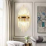 BuyBuyBuy Nordic Modern Minimalist Kristall Wandleuchte Gang Luxus Gold Schlafzimmer Nachttischlampe...