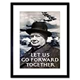 Wee Blue Coo LTD 9x7 '' AD WAR Churchill Winston Victory