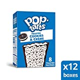 Pop-Tarts, Breakfast Toaster Pastries, Frosted Cookies and Crème, Proudly Baked in the USA, 96 count  (Pack of 12, 13.5 oz Boxes)