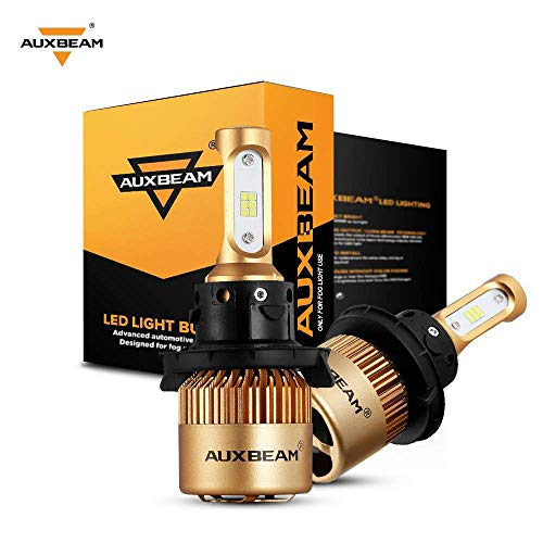Auxbeam H13/9008 LED Bulbs F-S3 Series 9008 H13A P264T PJ264T Conversion Kits with 2 Pcs of Led Bulbs 72W 8000LM CSP Chips Halogen/Fog Light Bulb Replacement