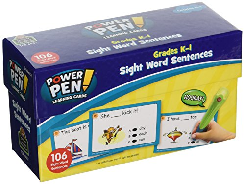 Teacher Created Resources Power Pen Learning Cards, Sight Word Sentences (6857)