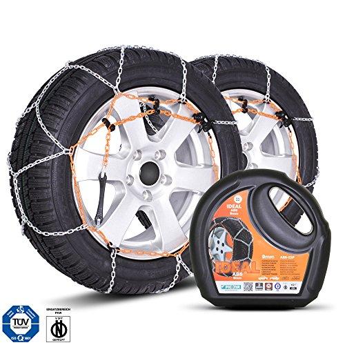 Ideal Chaînes à neige I12, 9 mm, homologuées TÜV, taille universelle, pour pneus de dimensions 215/75 R15, 225/70 R15, 205/75 R16 entre autres