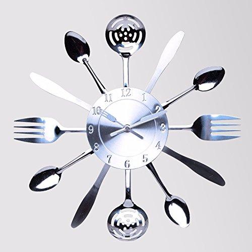 CNBBGJ Horloge murale créative moderne 14 pouces réveil, réveil personnalisé, simple, tableau de tendances de la mode salon de l'horloge à quartz,B