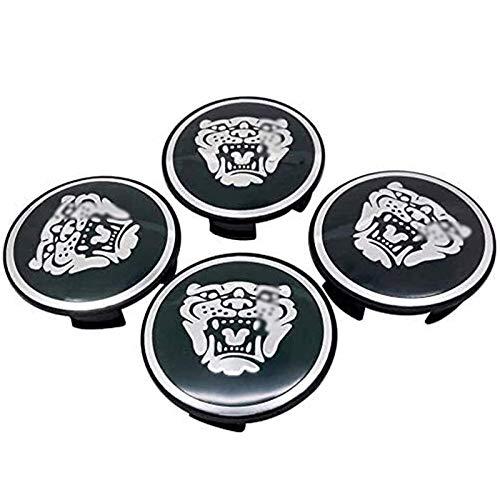 4 Piezas Coche Tapas Centrales Llantas para J-Aguar XJ XF XK XE, 56mm Tapacubos Coche Insignia del Polvo Accesorios de Estilo