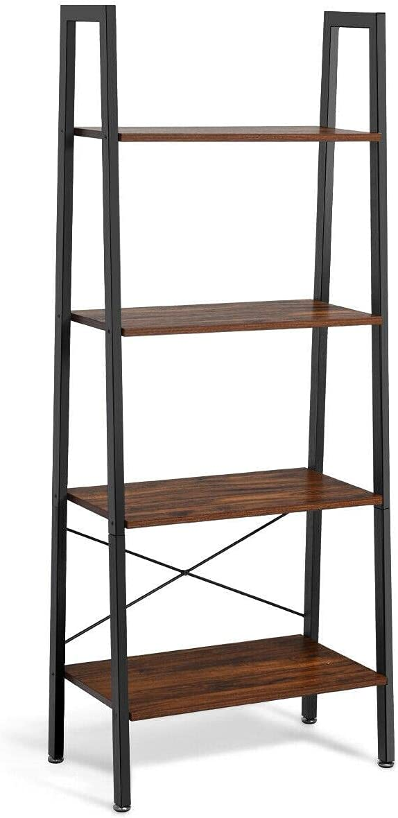 4-Tier excellence Ladder Shelf Bookcase Bookshelf Portland Mall Plant Display Rack
