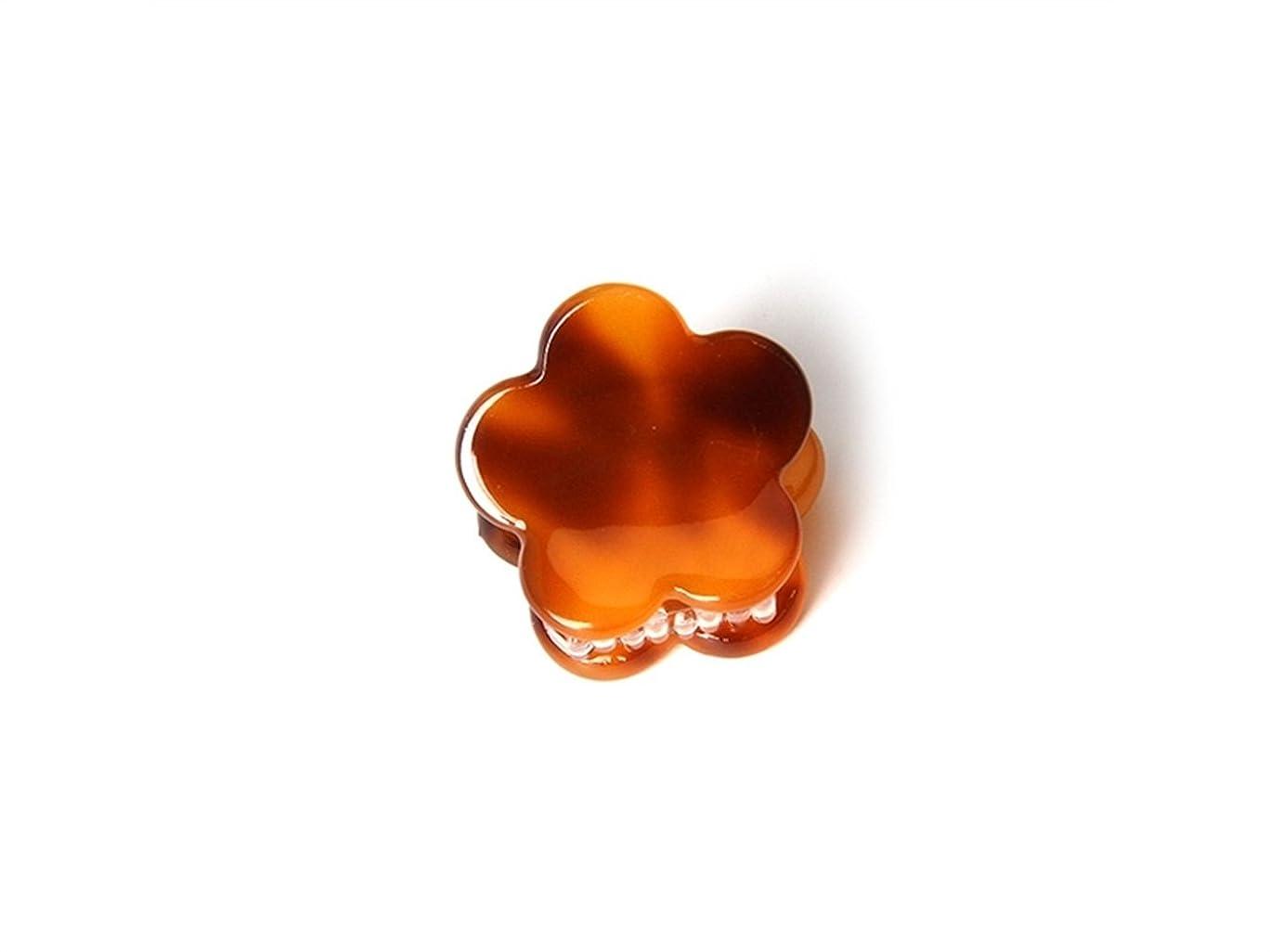 選択するストライク心理的Osize 美しいスタイル シンプルなフラワースクエアラウンド型の爪クリップミニジョークリップ(コーヒーフラワーシェイプ)