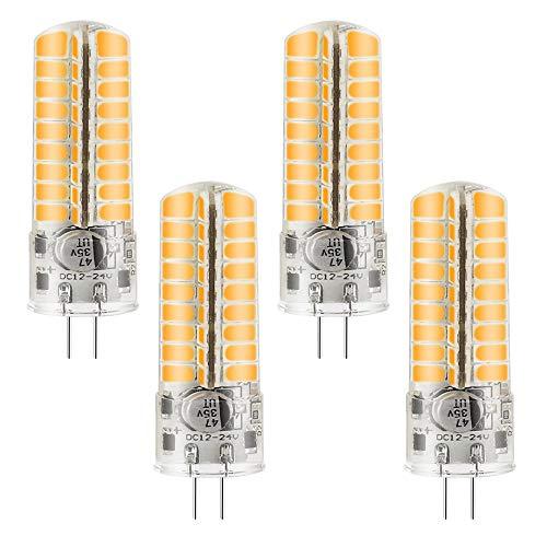 MENGS 4 Stück G4 6W LED Lampe Kaltweiß 6500K AC/DC 12V 72x5730 SMD Mit Silikon Mantel