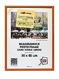 3B Marco de Fotos ULM 30x40 cm - Naranja - Marco de Madera, Foto, parojo con Vidrio de poliéster (lámina de plástico)