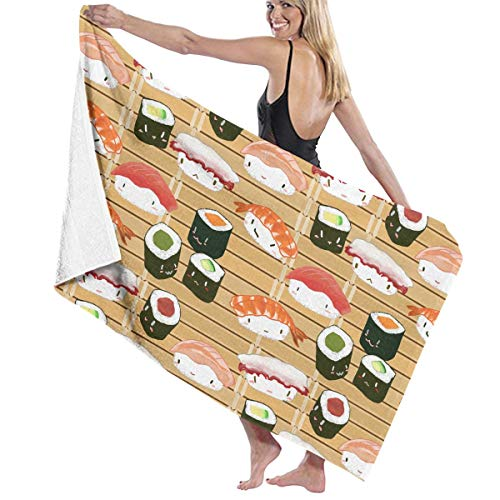 Why Should You Buy Japanese Sushi Kawaii Not Happy Themed Party Pattern Printed Beach Blanket Mat Po...