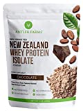 Antler Farms - 100% Grass Fed New Zealand Whey Protein Isolate, Chocolate Flavor, 30 Servings, 2 lbs - Delicious, Cold Processed, Rapidly Absorbed, Keto Friendly, Pure and Clean rBGH Free, No Sugar