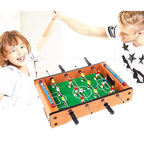 AFFC Mini-Holz-Freizeit Indoor Kickertisch Desktop-Doppelfußballspiel 34,5 * 21,5 * 8cm