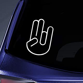 Choose Size /& Color Rocker Hand Vinyl Sticker Decal Rock On JDM Shocker