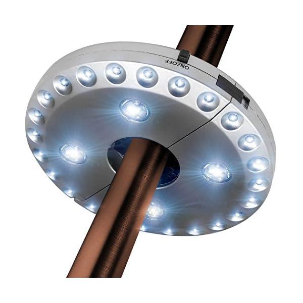 Txian Cordless 28 LED Umbrella Lights 3 Level Dimming Parasol LED Light Umbrella Pole Patio Tents Lighting Pure White… 1