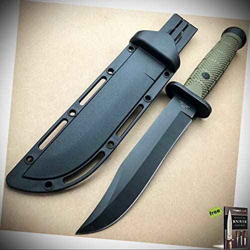 """12"""" Military Hunting Fixed Blade Survival Rambo Stainless Steel Blade Knife Army New + Free eBook by Survival Steel"""