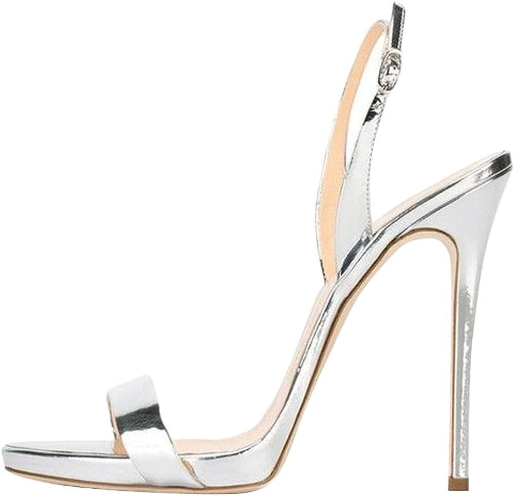 YOGLY Escarpins Mode Femmes Bout Pointu Cheville Chaussure Talon Haut Aiguille en Puir Stiletto Club Soir/ée
