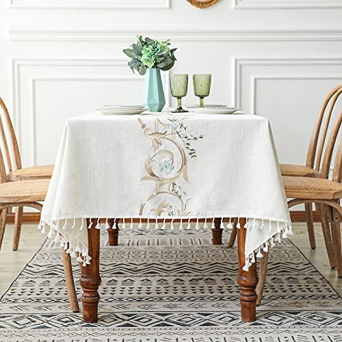 Mantel Estampado Estilo Escandinavo Mantel Simple Borla Rosa Mantel Lavable Termoaislante Y Resistente A La Temperatura Rectangular Varios Tamaños Disponibles Apto para Restaurantes