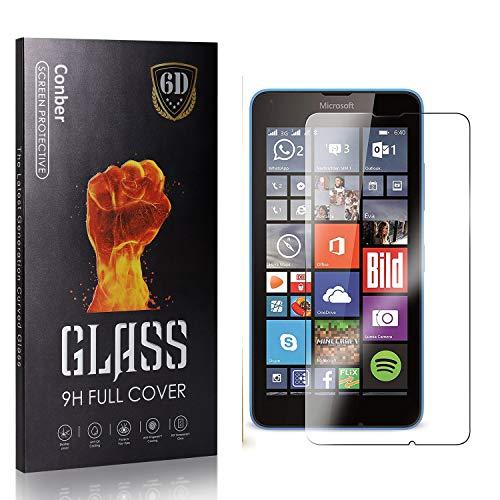 Conber Panzerglasfolie für Microsoft Lumia 640, [4 Stück] 9H gehärtes Glas, Blasenfrei, Kratzfest, Hochwertiger Hülle Freundllich Panzerglas Schutzfolie für Microsoft Lumia 640