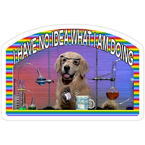 Vinyl Sticker for Cars, Trucks, Water Bottle, Fridge, Laptops Chemistry Dog Meme Stickers (3 Pcs/Pack)