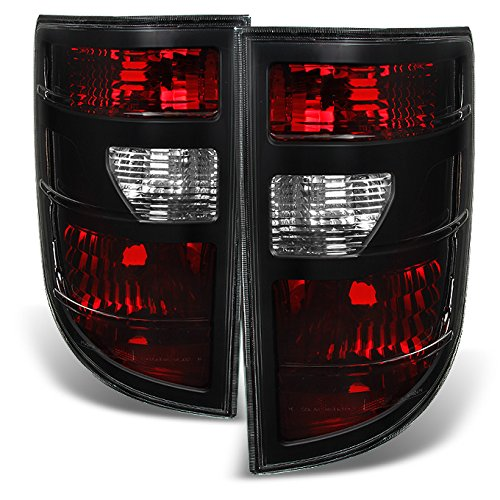 For Honda Ridgeline 4Dr Pickup Truck Dark Red Tail Lights Driver Left + Passenger Right Side Replacement