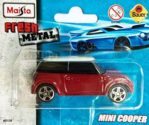 MAISTO® Mini Cooper - 1:64 - rot/weiß