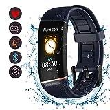 BYTTRON Fitness Tracker, Orologio Tracker attività Impermeabile con Contapassi Contapassi e Orologio con Conta Calorie, Bracciale Sottile per Donna (Blu)