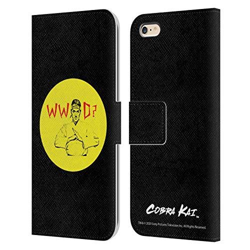 Head Case Designs Licenciado Oficialmente Cobra Kai John Lawrence WWD Composed Art Carcasa de Cuero Tipo Libro Compatible con Apple iPhone 6 Plus/iPhone 6s Plus