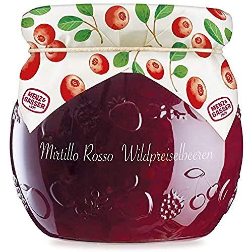 MENZ&GASSER Edel Confettura Extra Di Mirtilli Rossi 55%, Con Frutta Di Alta Qualità, 1 Vaso X G, Mirtillo, 590 Grammo