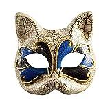 BLEVET Máscara Veneciana Party Ball Mardi Gras Máscara Carnaval Veneciano Máscara para niño...