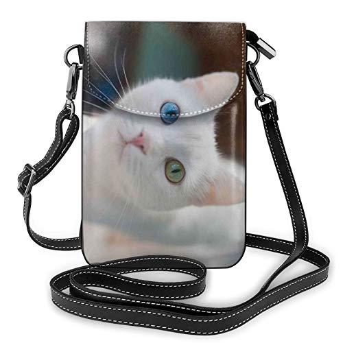 Mirando a un gato bolso de teléfono celular Crossbody, bolso del teléfono, bolso de la cartera del teléfono celular del Crossbody