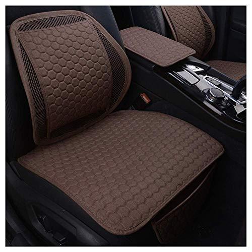 GJHK Cojín de asiento de coche, cuatro estaciones universal con respaldo de asiento antideslizante, funda protectora ergonómica para aliviar la fatiga, juego de 2 (color: negro)