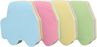 GTHER Car Shaped Sticky Notes, Self Stick Notes Self-Adhesive Car Sticky Note Cute Notepads Posted Writing Pads Stickers Paper (4 Pads, Car)