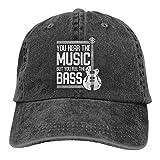 Vintage Bass Guitar Music Quote Travel Sports Adjustable Washed Unisex Dad Hat Trucker Cap Hat Denim Cap Baseball Cap