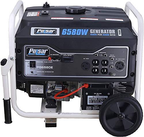 Pulsar PG6580E Portable Generator, Black&White