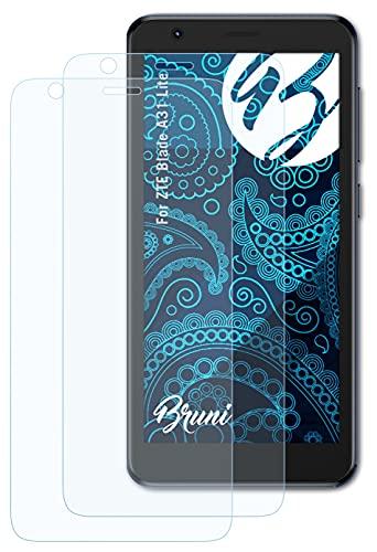 Bruni Schutzfolie kompatibel mit ZTE Blade A31 Lite Folie, glasklare Bildschirmschutzfolie (2X)