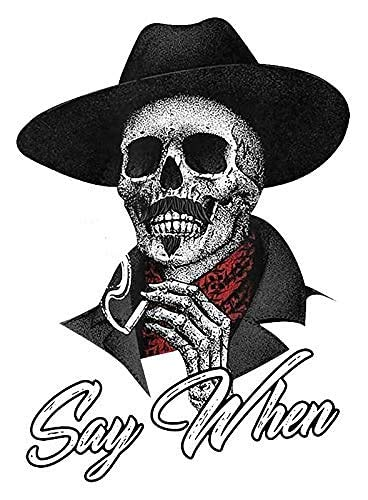 Say When Doc Holiday Sticker Decal Skeleton Skull Tombstone Quote 2 Pack Western 4-Inches Premium Quality Vinyl Sticker UV Protective Laminate PDS2146