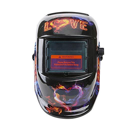 Auto Darkening Welding Helmet Solar Tig Mig Protect Grind Welder Mask Love YL#