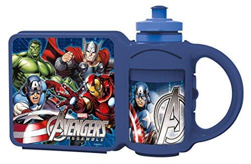 Marvel ? Avengers ? Boite À Sandwich + Gourde en Plastique