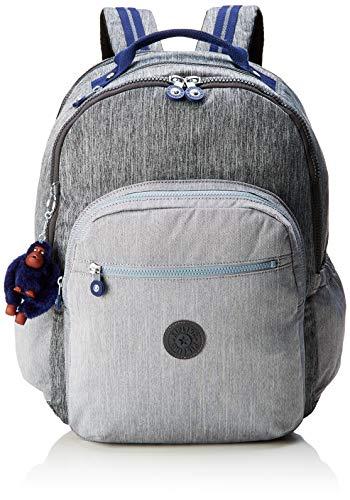 Kipling SEOUL GO XL School Backpack, 46 cm, 33 liters, Grey (Ash Denim Bl)