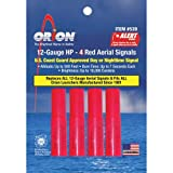 Orion Safety Areial Flare Refill, Red (4 Piece Pack)