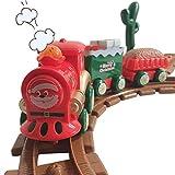 Set di trenini Natalizi per Bambini Set di trenini Natalizi Mini Caravan Train Il Regalo Giocattolo a Tema Natalizio Perfetto Giocattolo educativo per Auto Musicale