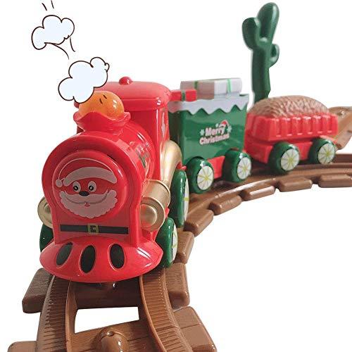 Juego De Tren Expreso De Santa, Juego De Tren Eléctrico, Locomotora, Coche...