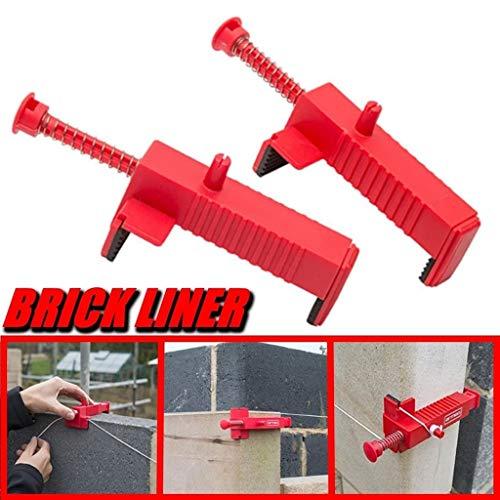 Deng Xuna 1 Paar Brick Liner Runner Draht Schubladen Brick Laying Tool Fixer für Hochbauvorrichtungen (Rot)