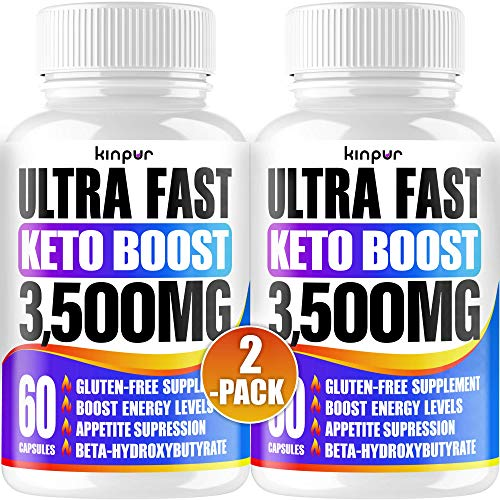Powerful Keto Pills - Best Diet Pills for Metabolism, Energy, and Brain Support That Work for Men & Women - 2-Pack - Keto BHB 120 Capsules - Effective Keto Supplement for Ketosis 1