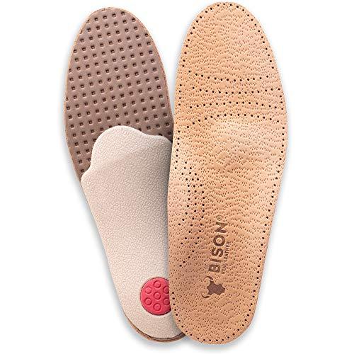 ORTRI Orthopädische Leder Einlegesohlen gegen Schweissfüsse Schuheinlagen/Größe 35-46 (41/42)