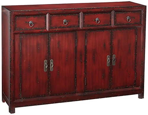 "Hot Sale Hooker Furniture Seven Seas 58"" Red Asian Cabinet"