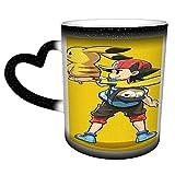 Rcivdkem Tazza P-ikachu Che Cambia Colore nel Cielo Tazza da caffè in Ceramica Tazza sensibile